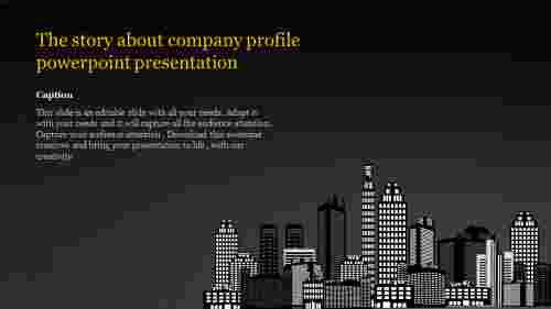 company profile powerpoint presentation-The story about company profile powerpoint presentation